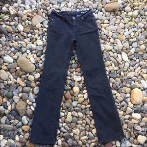 Buffalo David Bitton black straight-leg jeans